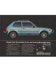 """Magazine Print Ad: 1976 Honda Civic, Accessories,""""What the World is Coming To"""""""