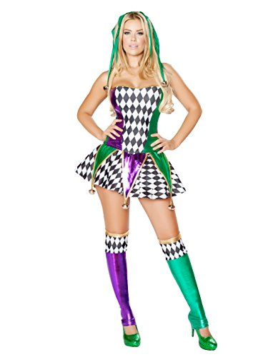 Mischievous Jester Adult Costume - (Sexy Mardi Gras Jester Costumes)