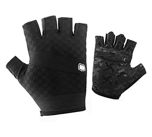 Epinki Summer Gloves Riding Gloves Half Finger Summer Men Bicycle Outdoor Gloves Black Size X-Large Gloves ()