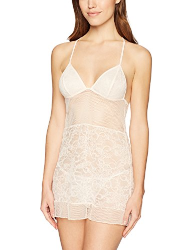 Amazon Brand - Mae Womens Allover Lace Chemise and Thong Set