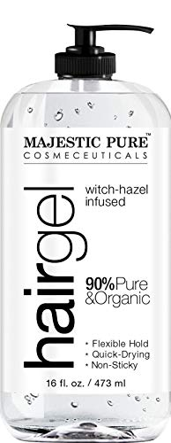 Hair Gel for Men & Woman - Styling with Organic Aloe Vera & Witch Hazel - 16 fl oz