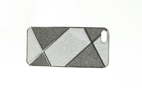 Cover Housse de protection des bornes pour 5 élégant boîtier Apple iPhone chic de téléphone mobile scintillement d'art moderne de conception moderne noble argent noir