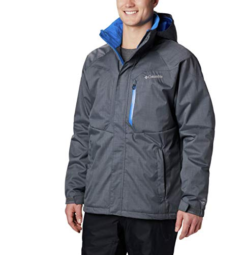 Columbia Standard Men's Alpine Action Winter Jacket, Waterproof & Breathable, Graphite, Super Blue, Large