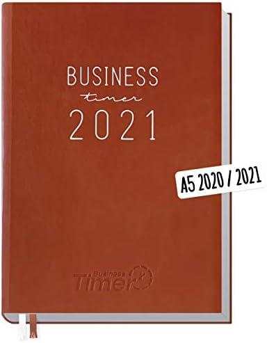 Chäff Business-Timer 2020/2021 A5 braun | Wochenplaner 18 Monate: Juli 2020 - Dezember 2021 | Wochenkalender, Organizer, Terminkalender für perfektes Zeitmanagement | klimaneutral & nachhaltig