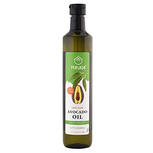 Prasada 100% Pure Avocado Oil (500ml) -Refined, Cold Pressed, BPA-Free Food-Grade Plastic Bottle | Excellent for Frying, Sautéing, Salads and Cosmetic Uses by Prasada
