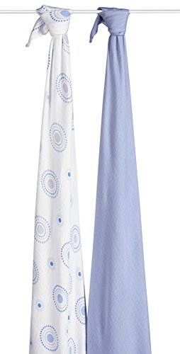 aden by aden + anais silky soft swaddle 2 pack, beau