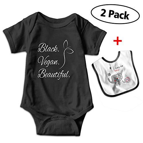 Love Taste Black Beautiful Baby Bodysuits Short-Sleeve Onesi