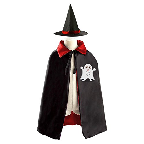 [Naughty Ghost Reversible Halloween Costume Witch Cape Cloak Kid's Hat] (Homemade Naughty Halloween Costumes)