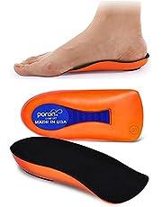 Darger Plantar Fasciitis Inoles Heel Cup Women Men Heel Insoles for Heel Pain, Heel Spurs, Flat Feet, Tendonitis, Shock Absorption Inserts (Black, Women 6-11.5 / Mmen 4.5-9.5)