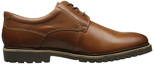 Mens Rockport Marshall Punta Liscia Oxford Oxford In Pelle Cognac