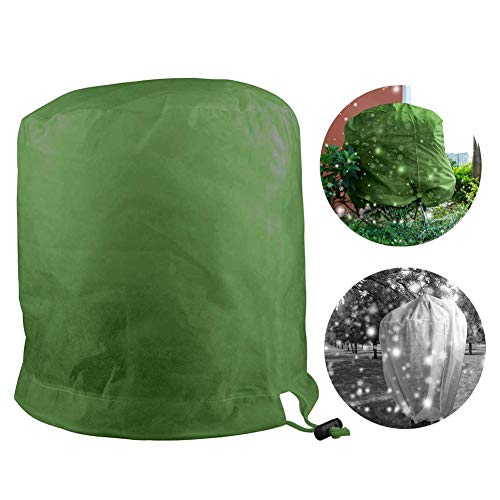 Winter Plant Cover Warm Anti-Frost Blanket Plant Cylindrical Protection Bag – Drawstring Shrub Jacket, Rectangle Plant Cover for Season Extension&Frost Protection