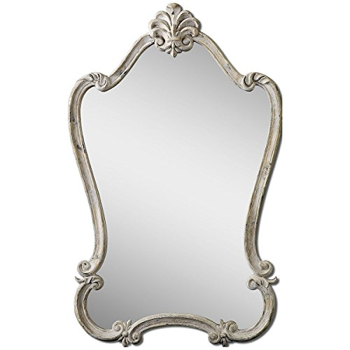 Uttermost 'Walton Hall' Antique White Vanity Mirror, Size On