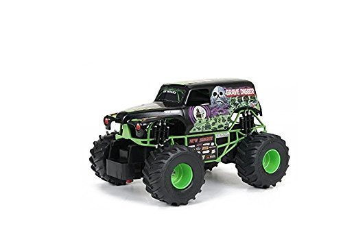 Rc Cars-Monster Trucks- New Bright 1:24 Remote Control Monster Jam Grave Digger-Cars Toys-has full function RC capabilities, a detailed frame and oversized grip tires-Race Cars-Full function, left-right steering, forward-reverse drive-This remote control truck is ready for endless hours of fun.