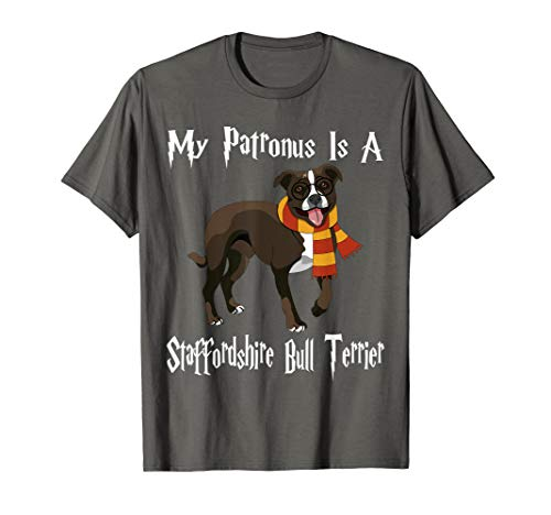 My Patronus Is A Staffordshire Bull Terrier Dog Lover T-Shirt (Long Leg Staffordshire Bull Terrier For Sale)