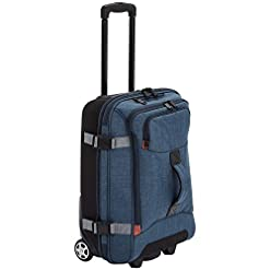 Travel Junkie 41bCssvtWBL._SS247_ Amazon Basics Rolling Travel Duffel Bag Luggage with Wheels, Small, Green