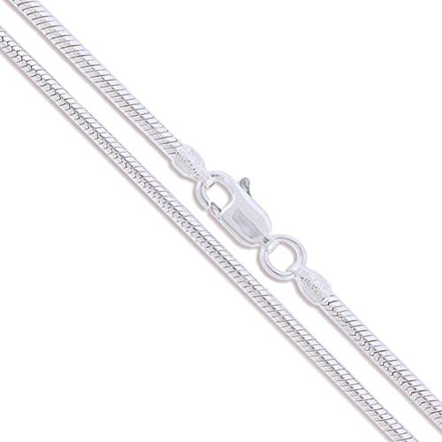 Sterling Silver Magic Round Snake Chain 3mm 925 Brazilian New Necklace -