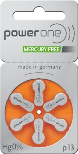 60 x Varta Powerone p13 Mercury Free Quecksilberfrei Hörgerätebatterie