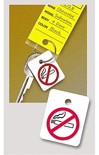100 per Pack Plastic Key Tag Fobs Donkey Auto Products No Smoking Reminders