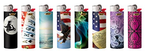 - BIC Full Size Limited Special Edition Disposable Lighters Assorted Styles (10)