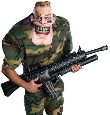 Rubie's Mens Scary Army Drill Sergeant Halloween Costume XL