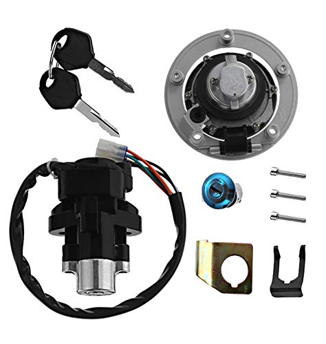 Motorcycle Ignition Switch Key Gas Fuel Cap Tank Cover Kit Seat Lock Key Set For Suzuki GSXR600 750 1000 SV1000 SV650 GSX1250FA