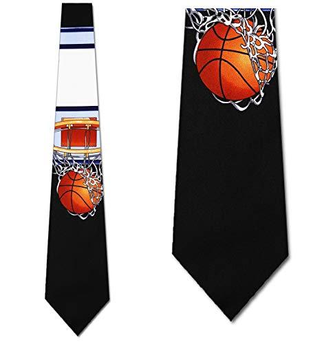 Basketball Hoop Ties black Net backboard ball Necktie Mens tie