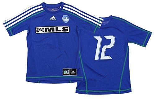 05aa3f60c adidas MLS Charlotte Soccer Academy Big Boys Recreational Jersey Blue -  Number Options
