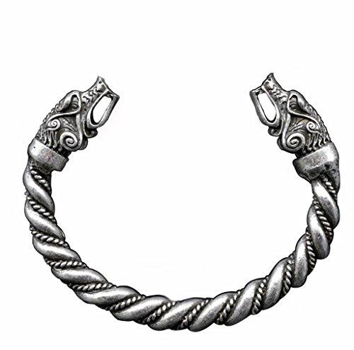 Large Norse Viking Wolf Bangles Bracelets