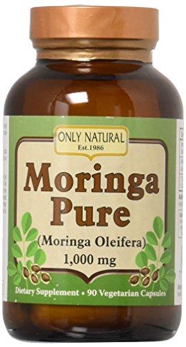 Only Natural Moringa Pure – 1000 mg – 90 Vegetarian Capsules 4-Pack