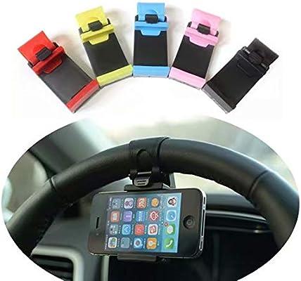 Clip del tel/éfono del Coche Adecuado para el iPhone Samsung Xiaomi Huawei Meizu GPS Soporte de navegaci/ón del Volante del Coche JUNGEN Soporte del tel/éfono m/óvil del Volante 5-8.5cm