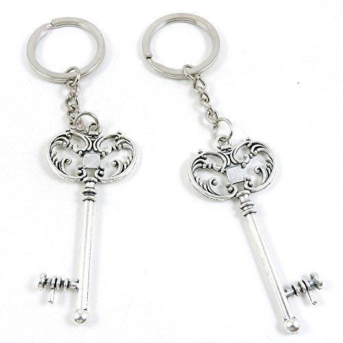 120 Pieces Fashion Jewelry Keyring Keychain Door Car Key ...