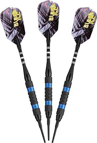 - Viper Black Ice Soft Tip Darts with Blue Rings, 16 Grams