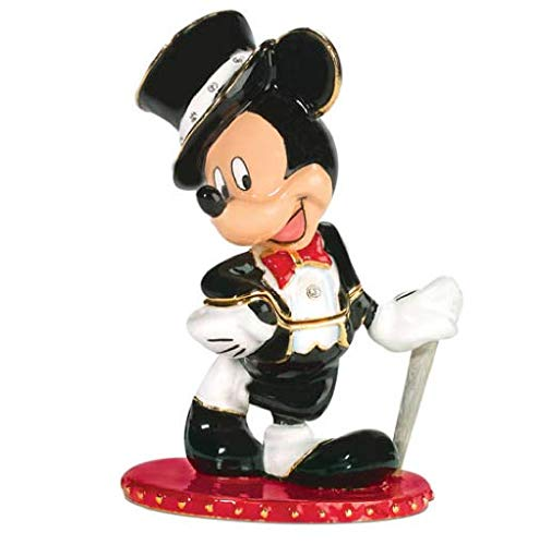 Department 56 Disney Mickey's Top Hat Jeweled Hinged Box