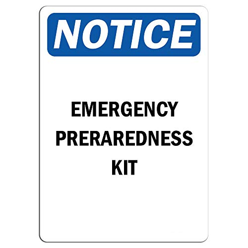 Notice - Emergency Preparedness Kit Sign | Label Decal Sticker Retail Store Sign Sticks to Any Surface 8