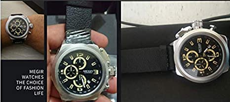 Amazon.com : Quartz Men Watch Luminous Relogio Masculino Multifunction Wrist Watches Men Clock Chronograph Watches Reloj Hombre (Black) : Sports & Outdoors