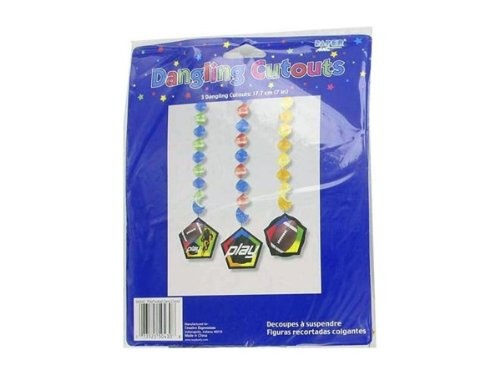 Football theme party dangling cut-outs - Case of (Party Dangling Cut Outs)