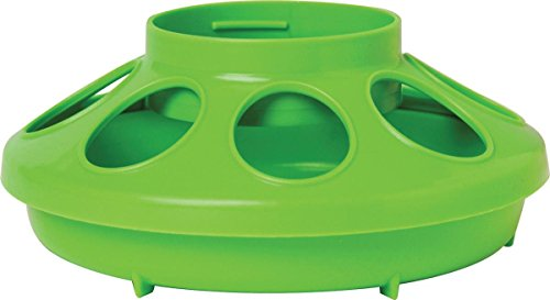 Plastic Feeder Base - Little Giant Plastic Poultry Feeder Base, 1-Quart, Apple Green
