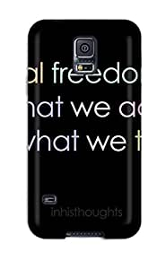 New Fashion Premium pc Case Cover For Galaxy S5 - Freedom Quotes