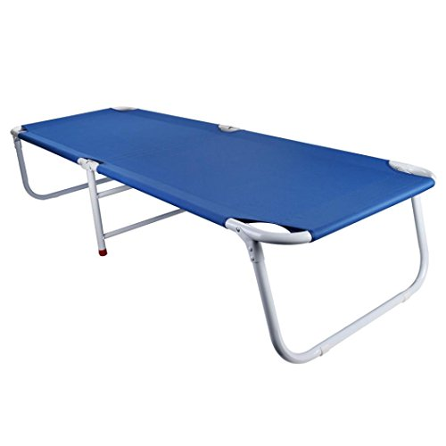 Folding Cot Bed Camping Cots for Heavy People Tough Oxford Cloth Sleeping Cot Lightweight Portable-182CM Long-Breathable & Waterproof (Blue) by TLT Retail