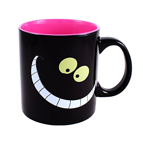 (Silver Buffalo AW5534HB Disney Alice in Wonderland Cheshire Cat Heat Reveal Ceramic Mug, 20)