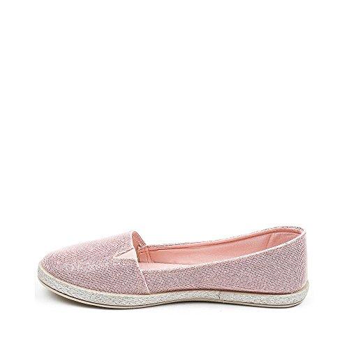 Ideal Shoes, Damen Slipper & Mokassins Rose