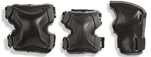 Youth Accessories - Rollerblade X Gear 3 Pack Protective Gear, Knee Pads, Elbow Pads and Wrist Guards, Inline Skating, Multi Sport Protection, Unisex, Black