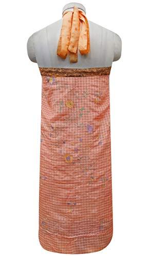 Saumon Wrap Peach Check Les Dress Rouge Beach Saree Pure Indianbeautifulart rversible Vintage et Femmes Summer Soie Imprimer qvE6OxaFw