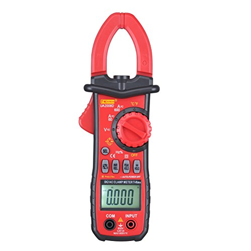 Dc Digital Clamp - DMiotech 600A DC / AC Clamp Meter Digital Multimeter with Resistance, Capacitance, Temperature, Frequency, Voltage, Current, Diode and Continuity Testing