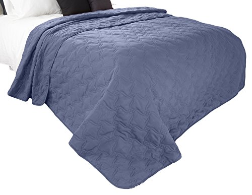 Solid Color Quilt by Lavish Home King - Navy