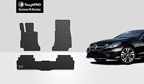 TOUGHPRO Floor Mat Accessories Set (Front Row + 2nd Row) Compatible with Mercedes-Benz E300 E400 - All Weather - Heavy Duty - (Made in USA) - Black Rubber - 2017, 2018, 2019, 2020