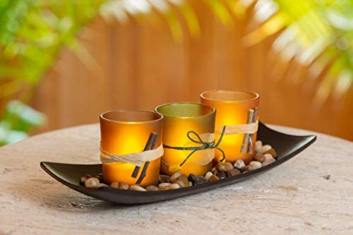 home, kitchen, home décor, candles, holders, candleholders,  tea light holders 12 image Dawhud Direct Natural Candlescape Set, 3 Decorative Candle in USA