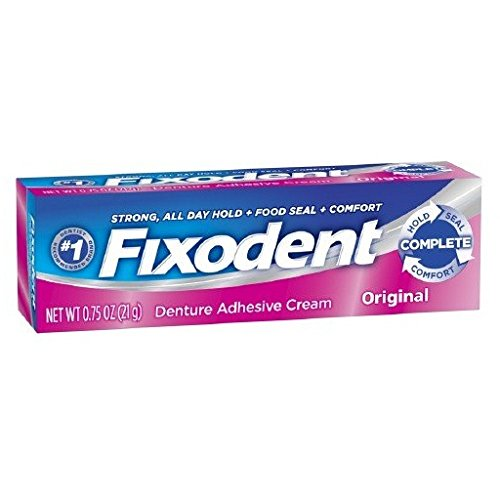 Fixodent Complete Original Denture Adhesive Cream 0.75 Oz (Pack of 4)