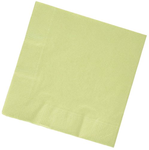 "Custom Made & Disposable {6.5"" Inch} 125 Count of 3 Ply Mid-Size Size Square Food & Beverage Napkins, Made of Soft Absorbent Paper w/ Bold Sage Pine Classic Birthday Party Style {Green}"