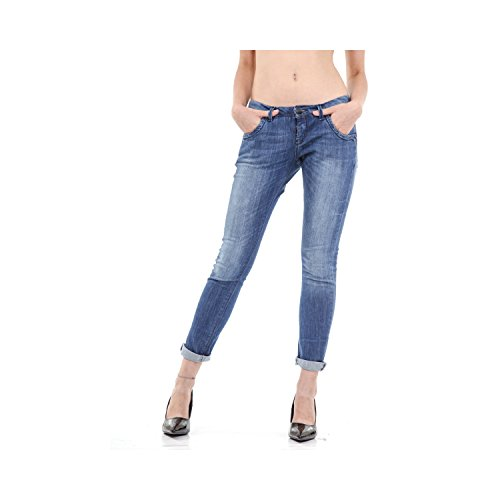 Jeans Denim 5 Slim Pantaloni Datch Donna Fit Blu Tasche TAZnqw